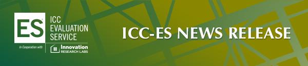 ICC-ES News Release